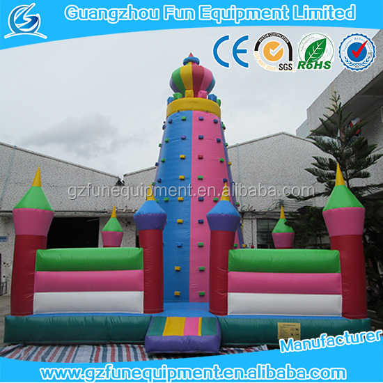 castle amusement inflatable climbing wall panel artificial climbing wall outdoor indoor climbing wall for kids and adult