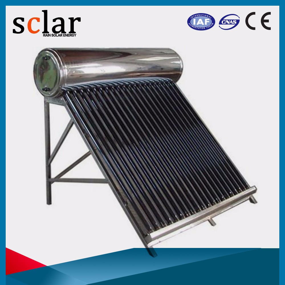 Adaptability Separate Pressured Water Pitched Roof Heat Pipe Solar Thermal Heater