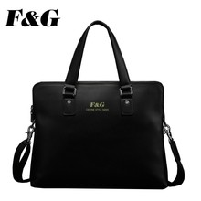 Simple Laptop Bag Men Genuine Cow Leather Handbag For Sale