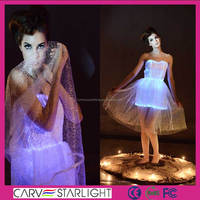 2015 hot sale fashion luminous optic fiber alibaba wedding prom dresses