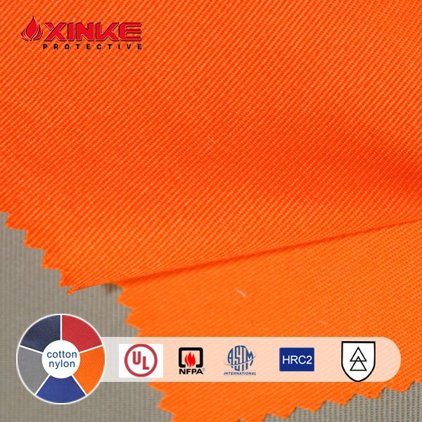 Xinke NFPA 2112 cn cotton nylon fireproof cloth material
