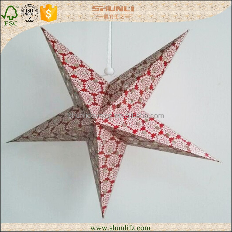 Germany wholesale products 2016 paper star lantern for halloween decoration
