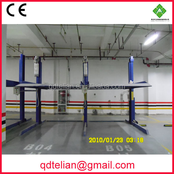 smart double park car lift system equipment underground hydraulic 2 deck office building parking systems