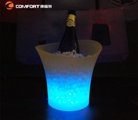 led illuminated ice bucket 5L custom plastic wine beverage bucket ice cooler for party KTV and bar