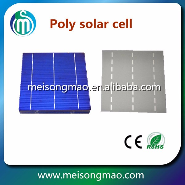 Polycrystalline solar cell price, poly solar cell 156*156, solar cell China manufacturer