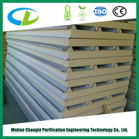 Good Looking Appearance Heat Resisting Polyurethane PU Sandwich Panel