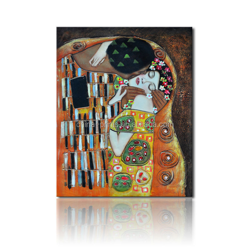 The Kiss Reproductive Oil Painting/Canvas Art Of Gustav Klimt/Famous Painting Printing
