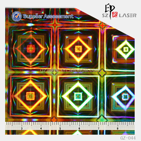 Hologram master plate with diamond pattern