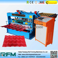 glazed tile metal roofing panel roll forming machine