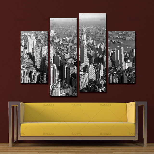 Online Shop Wall Painting canvas art modern print Black And White ...