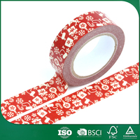 Christmas Gift Packing Colorful Adhesive Washy Paper Tape