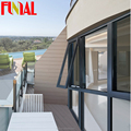 FINIAL Aluminium chain winder awning window in powder coating color with double tempered glass with AS 2047