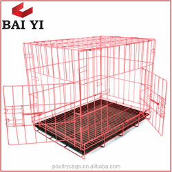 Galvanized Steel Expanded Metal Pet Dog Cage And Dog Carrier
