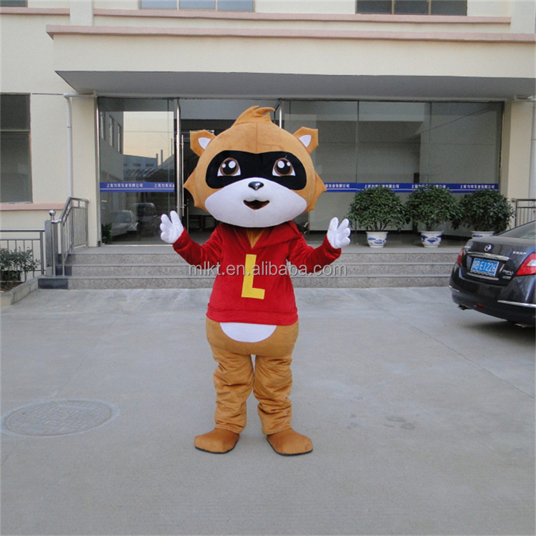 Wholesale online China realitic factory produced adult Raccoon bear mascot costume