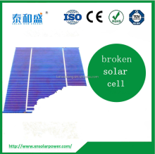 "High Quality 156x117mm 6"" Poly Crystalline Solar Cell With Broken Solar Cells"