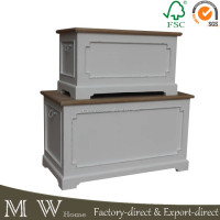 High quality shabby chic wooden storage box with lid