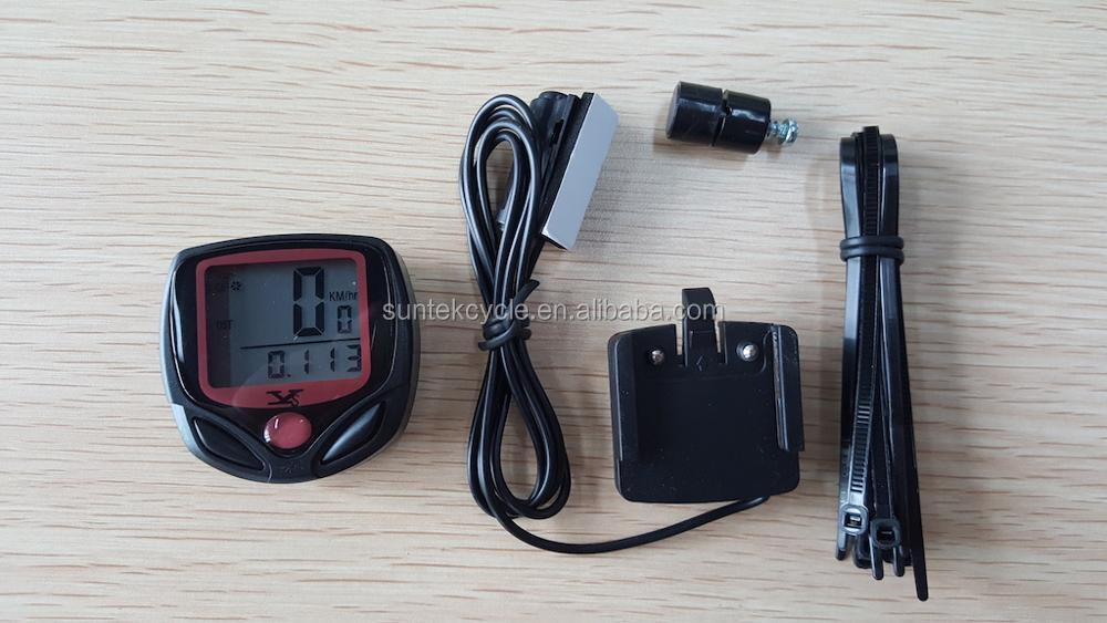 YS-268A wired 15 functions waterproof bicycle speedometer sport bike computer