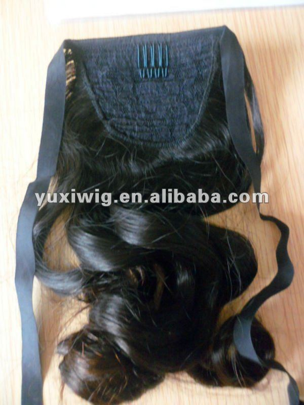 customized 100% human hair ponytail extension