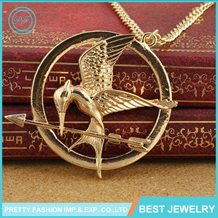 Europe popular The Hunger Games necklace Fashion Double birds Pendant Necklace