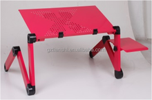 Good quality metal adjustable height folding table, children desks, laptop folding table