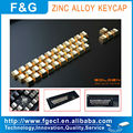 zinc alloy mechanical golden color keycap