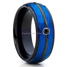 ally express cheap wholesale ring mens tungsten carbide wedding ring blue