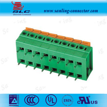 5.08*7.5*7.62mm 3 Pin Spring terminal Block 1000V connector