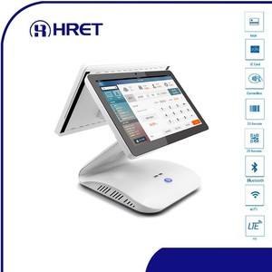 15.6 inch Dual screen POS system Electronic Ordering system support NFC 4G data POS system for supermarket