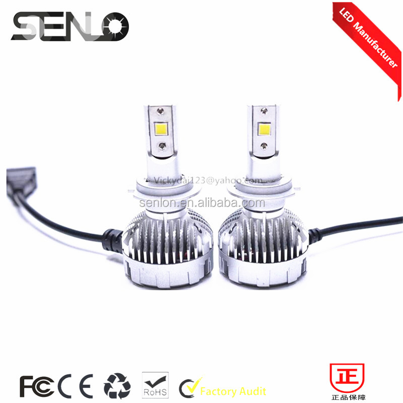 2016 Best price Canbus h7 car fog light bulb high power HID white 6000K 2200LM H7 LED fog light for car hyundai