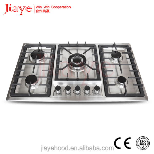 built-in Embedded 86cm 5 copy sabaf burner stainless steel gas stove cast iron support