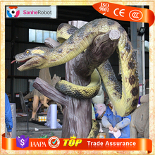 Tree Trunk Robotic Remote Control Snake Statue for Sale