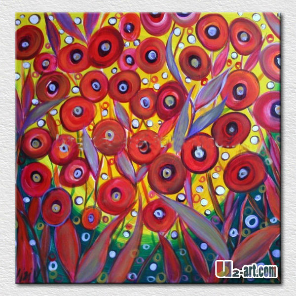 Red wall hangings abstract flower pictures for kids room wall <strong>decoration</strong>