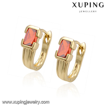93617 xuping light weight gold earring, 14k gold color wholesale earrings, gold earring indian earring