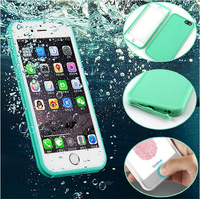 New Waterproof Phone Case Shockproof Soft Silicone TPU Protective pouch Waterproof Bag For iPhone 6 6S Plus Screen Touch