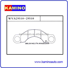 WHOLESALES DISC BRAKE PADS HEAVY DUTY TRUCK AND TRAILER BRAKE PADS FOR KASSBOHRER WVA29510-29510 WEVER/KAMINO ASBESTOS FREE