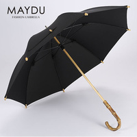 Shanghai MAYD wholesale 2017 most popular bamboo handle straight umbrella