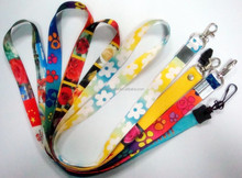 2014 cheapest No minimum order heat transfer process heat transfer printing neck ribbons lanyards