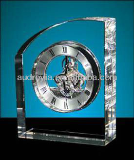Audreyia crystal wedding gifts crystal clock souvenir