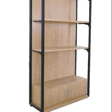 Antique Wooden Extending Book Shelf Holder Rack Case