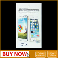 Wholesale checkout High clear 4.7/ 5.5 inch screen protector for iphone 6.for iphone 6 plus