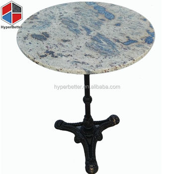 Tropical storm outdoor round granite dining table