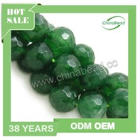 Wholesale gemstone indonesia, Candy Jade beads, dark green, Faceted round
