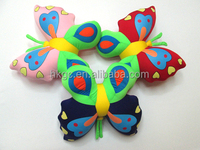 Lovely fashion cartoon butterfly shape design throw pillow or back cushion