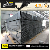 ERW hollow steel tube /popular dip galvanized steel square pipe