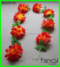 india flower garland decoration, silk flower garland 8 flowers 200cm