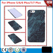 High Quality Marble Stone Painted Hard PC Cover Phone Case for iPhone 5/6/6 Plus/7/7 Plus