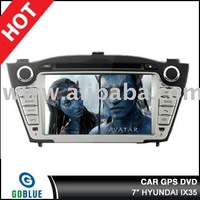 7 inch car dvd player speical for HYUNDAI IX35 with high resolution digital touch screen ,gps ,bluetooth,TV,radio,ipod
