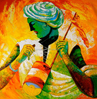 Modern Abstract Woman Art of People Oil Painting