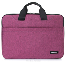 12 13.3 Inch shock absorb nylon Laptop sleeve Briefcase Case for women ladies college students pink unisex custom sample