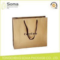 Customized manufacture oem craft paper shopping gift bag